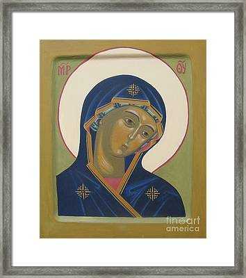 Virgin Mary Icon Framed Print by Seija Talolahti