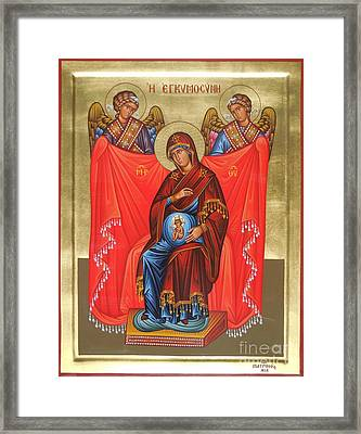 Virgin Mary In Pregnancy Framed Print by Theodoros Patrinos