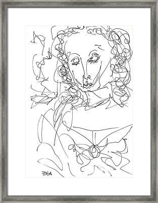 Virgin Mary Framed Print by Rachel Scott
