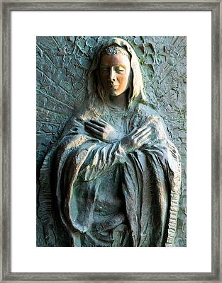 Virgin Mary Relief Framed Print