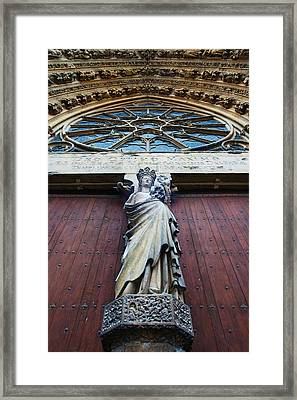 Virgin Mary Statue With Jesus Christ Framed Print by Panoramic Images