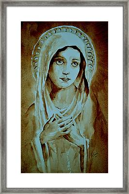 Framed Print featuring the painting Virgin Mary by Steven Ponsford