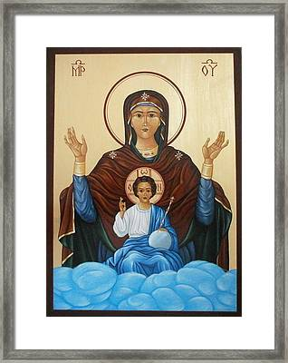Virgin Mary With Baby Jesus Framed Print by Doru Ionut Pustianu