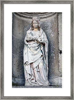 Virgin Mary With Child Framed Print by Olivier Le Queinec