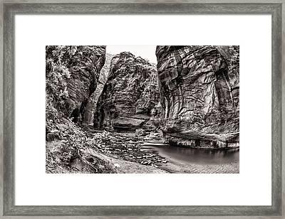Virgin Narrows Bw Framed Print by Juan Carlos Diaz Parra
