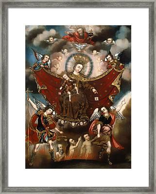 Virgin Of Carmel Saving Souls In Purgatory Framed Print by Mountain Dreams