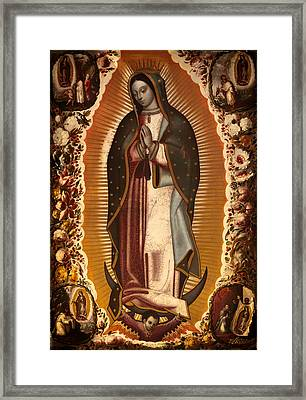 Virgin Of Guadalupe Framed Print by Mountain Dreams