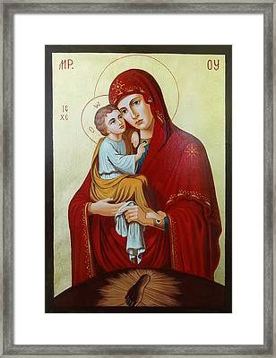 Virgin Of Pachev Framed Print by Janeta Todorova