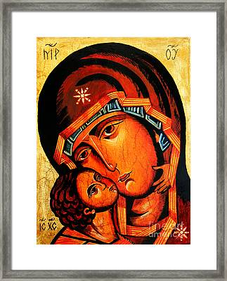 Virgin Of Tenderness Framed Print by Ryszard Sleczka