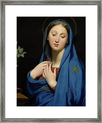 Virgin Of The Adoption Framed Print by Jean Auguste Dominique Ingres