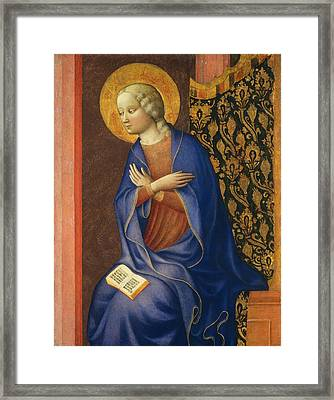Virgin Of The Annunciation Framed Print by Masolino da Panicale
