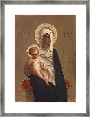 Virgin Of The Deliverance Framed Print by Ernest Hebert