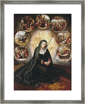 Virgin Of The Seven Sorrowsvirgin Framed Print