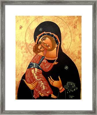 Virgin Of Vladimir Framed Print by Joseph Malham