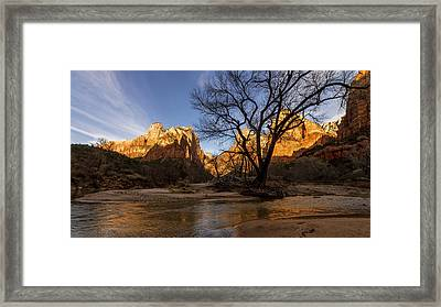 Virgin Reflection Framed Print