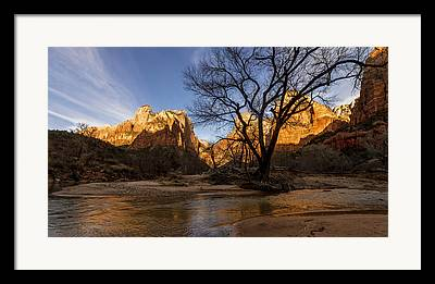 Zion National Park Framed Prints
