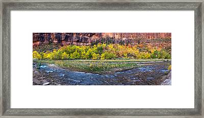 Virgin River At Big Bend, Zion National Framed Print