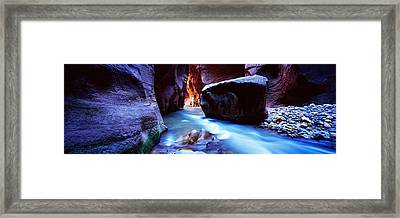 Virgin River At Zion National Park Framed Print by Panoramic Images