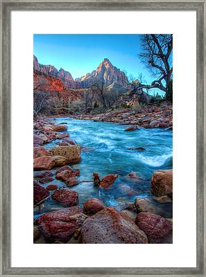 Virgin River Before The Watchman Framed Print by Laura Palmer