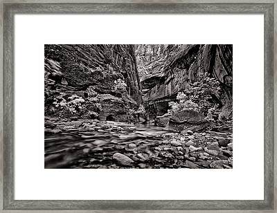 Virgin River Calm Framed Print by Juan Carlos Diaz Parra