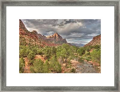 Virgin River Framed Print by Jeff Cook
