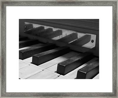 Virginal Keys Framed Print by Jeffrey Peterson