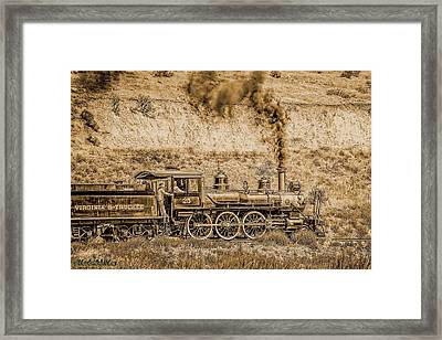 Virginia And Truckee Rail Road Gold Rush Framed Print by LeeAnn McLaneGoetz McLaneGoetzStudioLLCcom