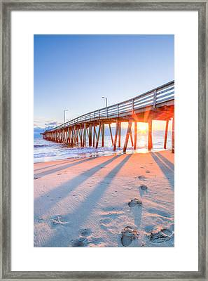 Virginia Beach Fishing Pier Framed Print