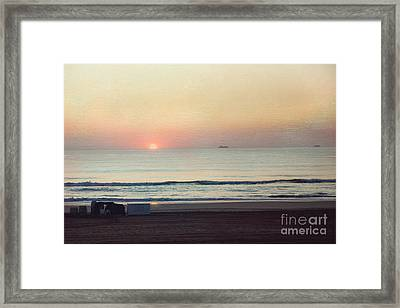 Virginia Beach Sunrise Framed Print by Kay Pickens