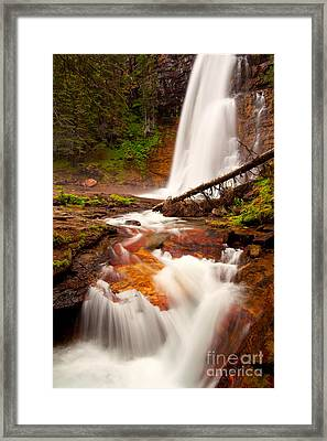 Framed Print featuring the photograph Virginia Cascades by Aaron Whittemore