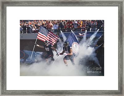 Virginia Cavaliers Football Team Entrance Framed Print by Jason O Watson