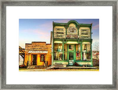 Virginia City Dry Goods Framed Print