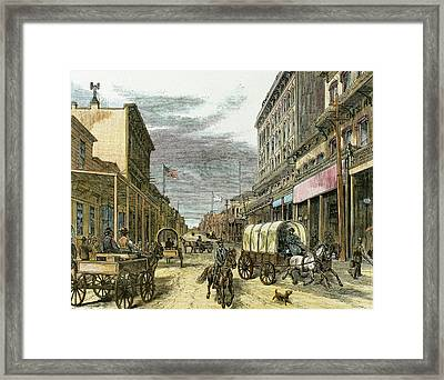 Virginia City In 1870 Framed Print by Prisma Archivo