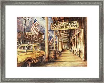 Virginia City Nevada - Western Art Framed Print by Art America Gallery Peter Potter