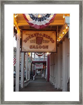 Virginia City Signs Framed Print