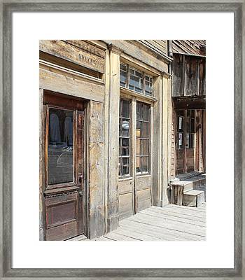 Virginia City Storefronts Framed Print by Mark Eisenbeil