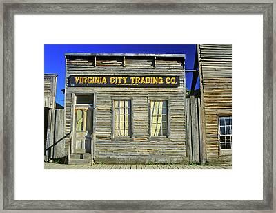 Virginia City Trading Co., Mt Framed Print