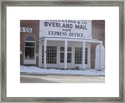 Virginia City Framed Print by Yvette Pichette
