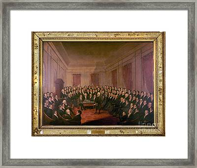 Virginia Convention 1829 Framed Print by Granger