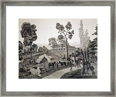 Virginia: Crows Tavern Framed Print by Granger