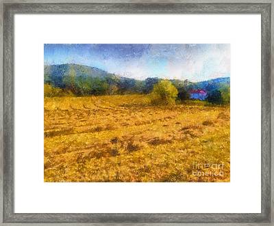 Virginia Fields Framed Print
