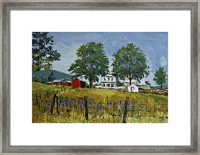 Virginia Highlands Farm Framed Print by Peter Muzyka