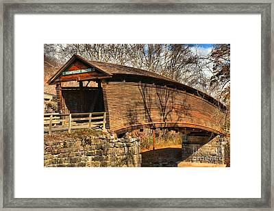 Virginia Humpback Bridge Framed Print by Adam Jewell