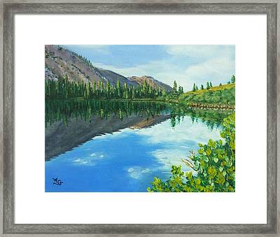 Virginia Lake Framed Print