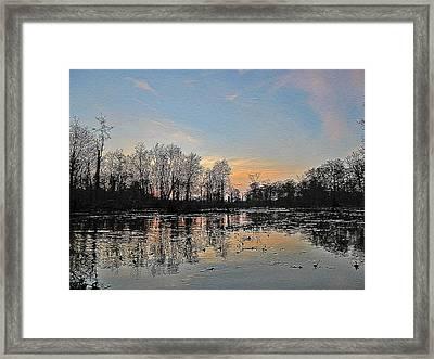 Framed Print featuring the photograph Virginia Landscape Art #1b by Digital Art Cafe