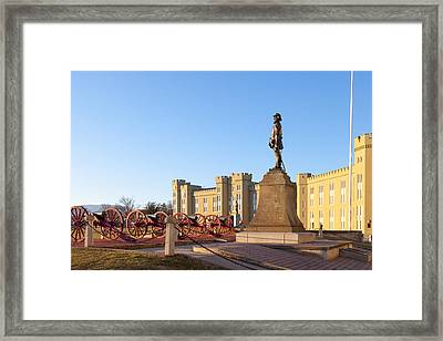 Virginia Military Institute Framed Print by Melinda Fawver