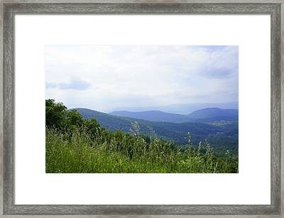 Framed Print featuring the photograph Virginia Mountains by Laurie Perry