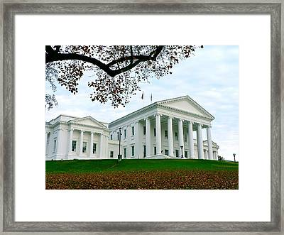 Virginia State Capitol In Autumn Framed Print