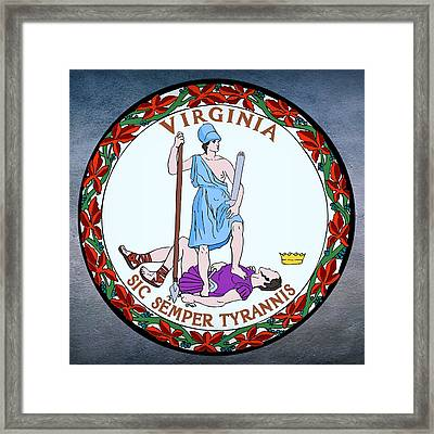 Virginia State Seal Framed Print