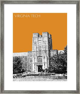 Virginia Tech - Dark Orange Framed Print by DB Artist